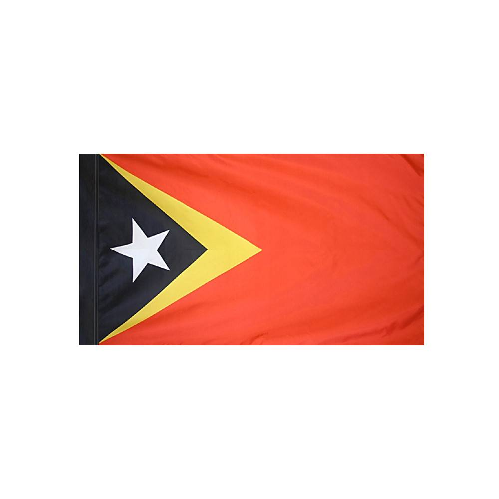 East Timor Flag with Polesleeve