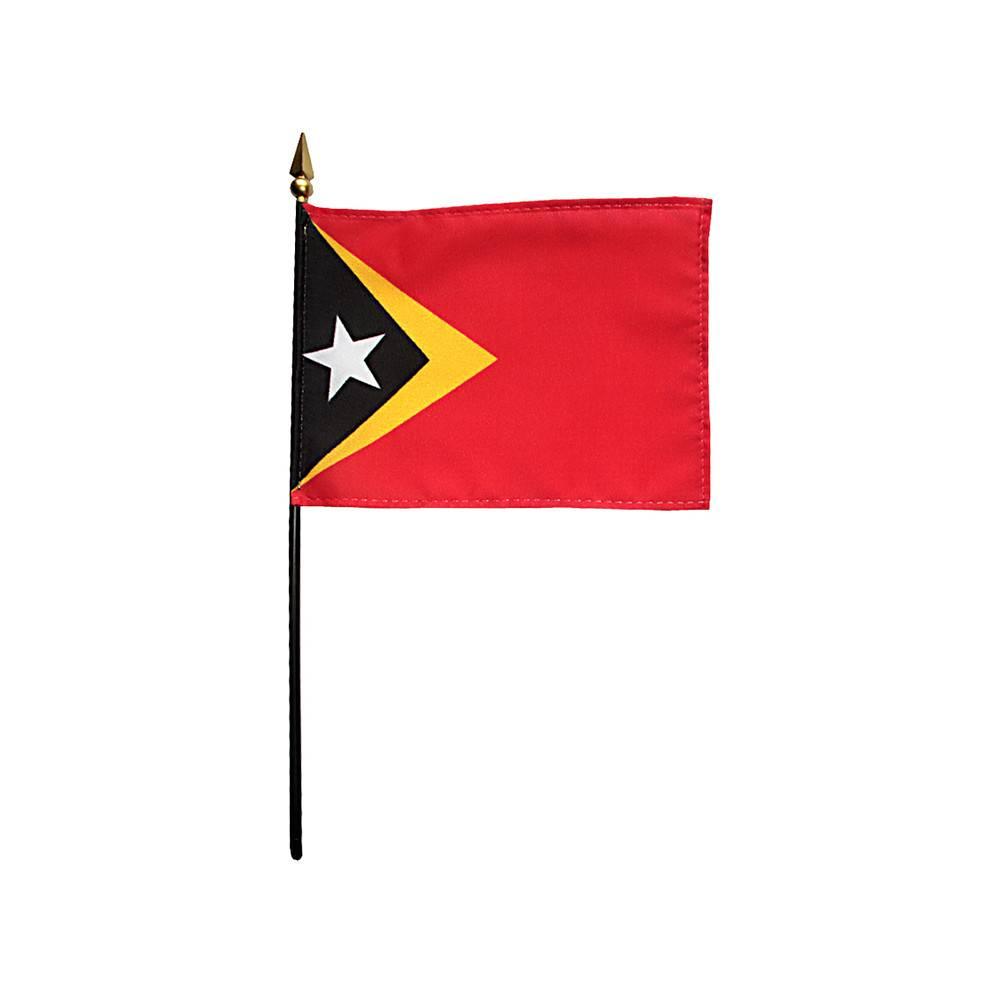 East Timor Stick Flag 4x6 in