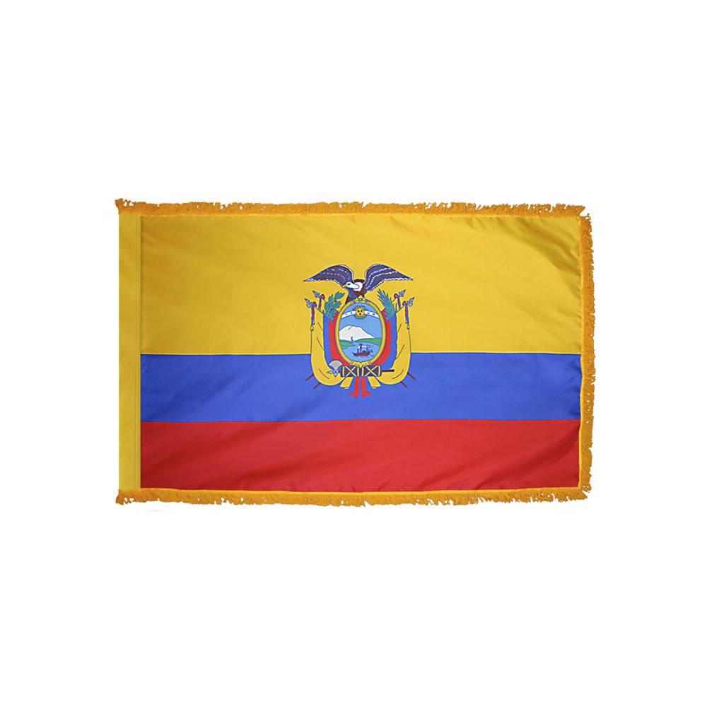 Ecuador Flag with Polesleeve & Fringe