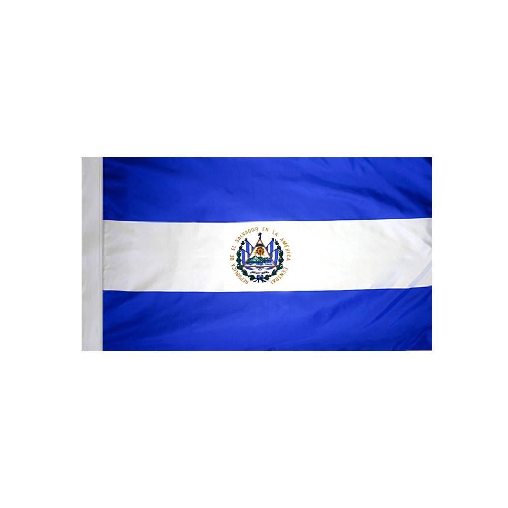 El Salvador Flag with Polesleeve