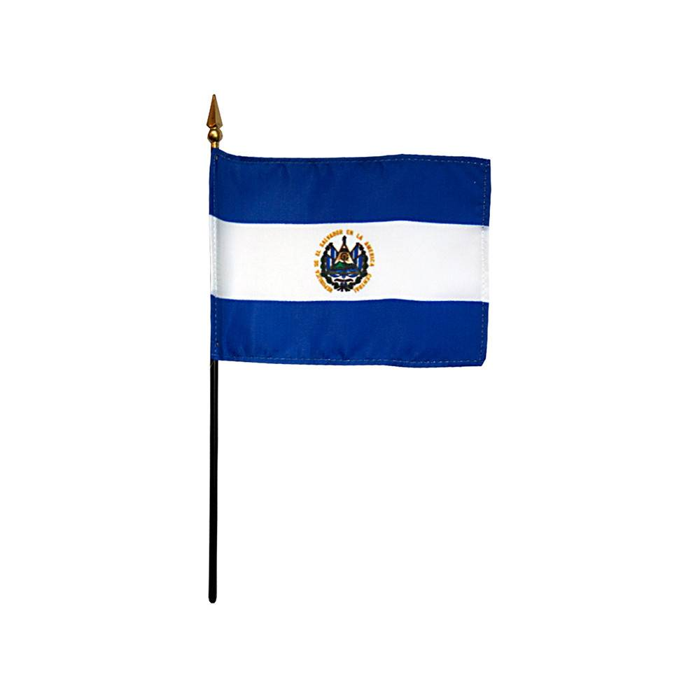 El Salvador Stick Flag
