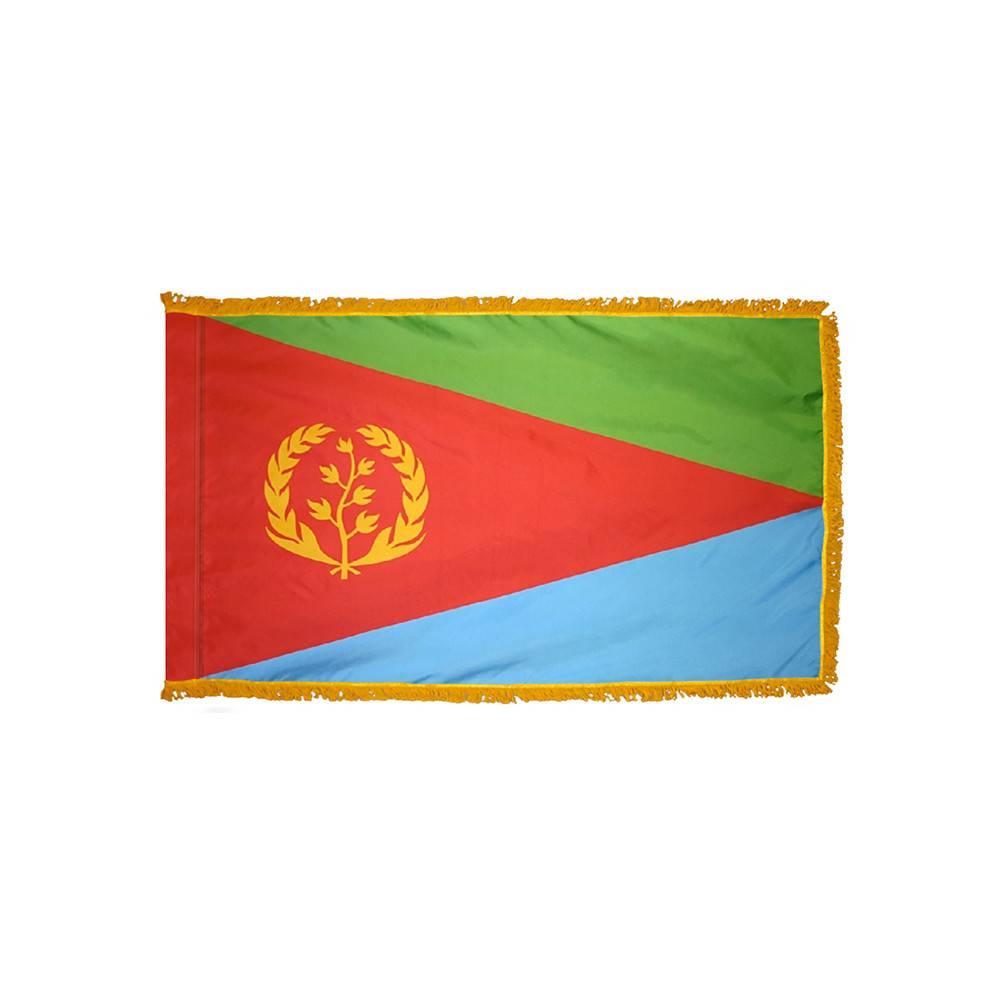 Eritrea Flag with Polesleeve & Fringe