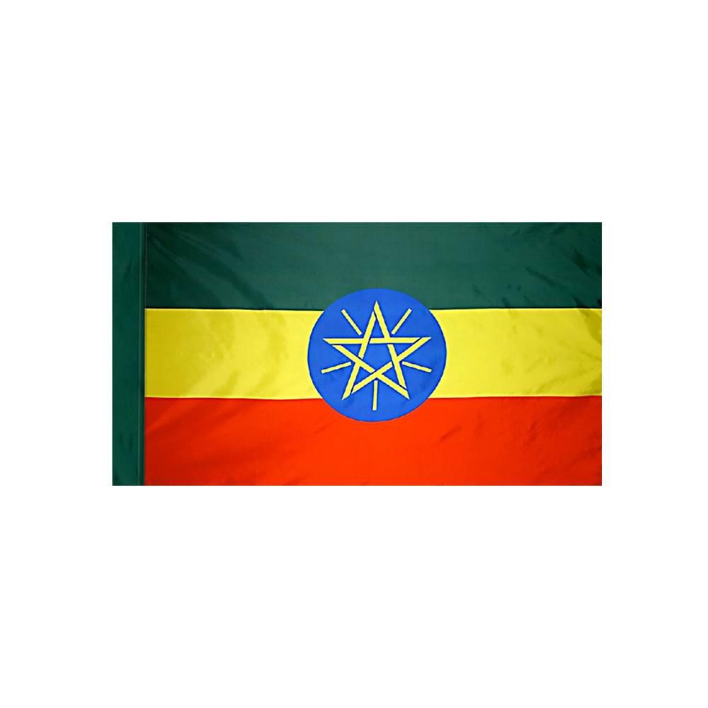 Ethiopia Flag with Polesleeve