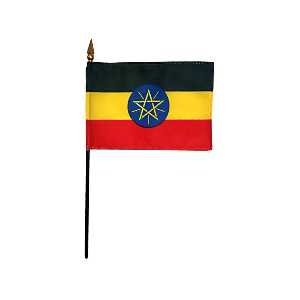 Ethiopia Stick Flag 4x6 in
