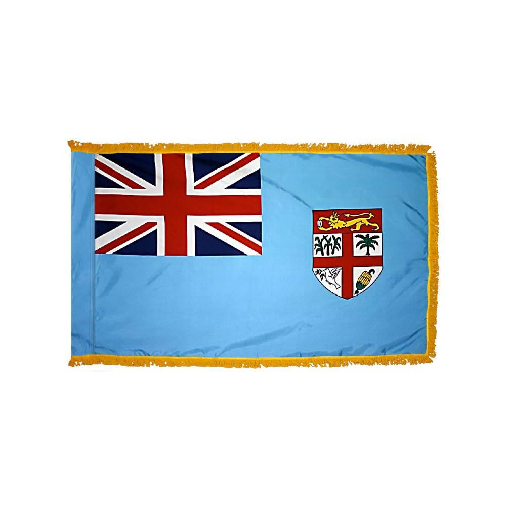 Fiji Flag with Polesleeve & Fringe
