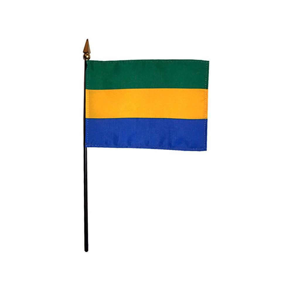 Gabon Stick Flag 4x6 in