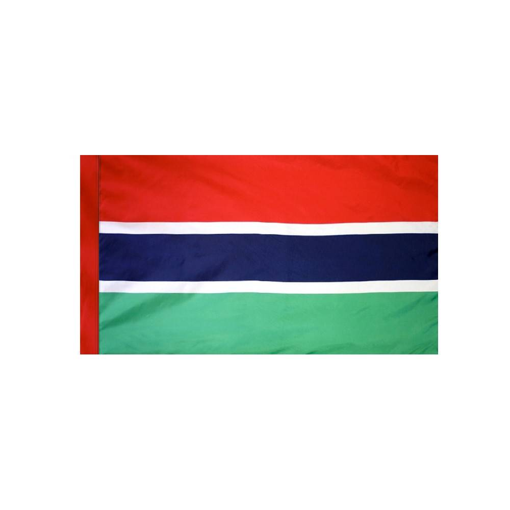 Gambia Flag with Polesleeve