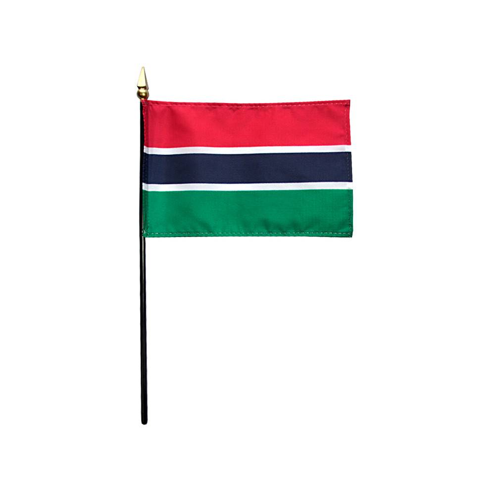 Gambia Stick Flag 4x6 in