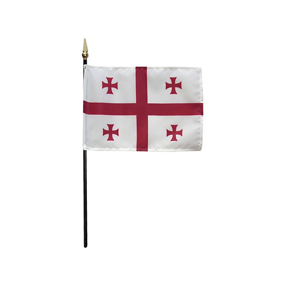 Republic of Georgia Stick Flag 4x6 in