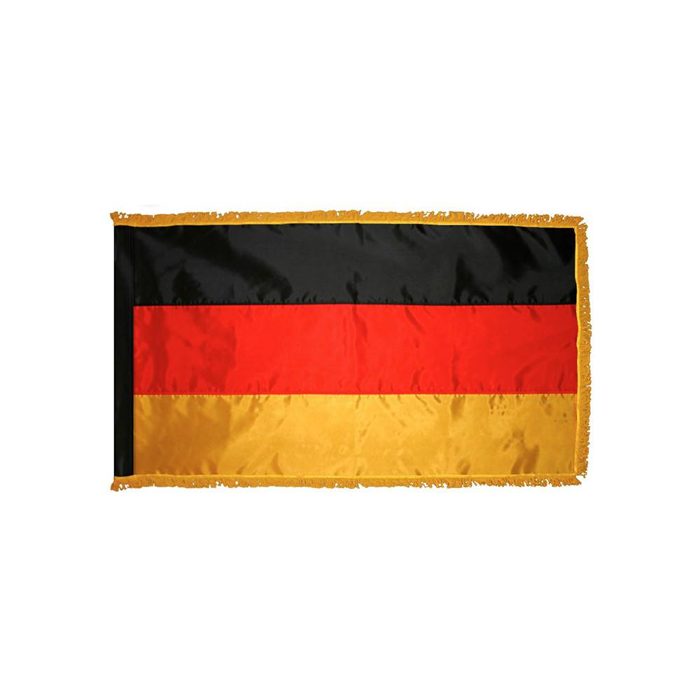 Germany Flag  with Polesleeve & Fringe
