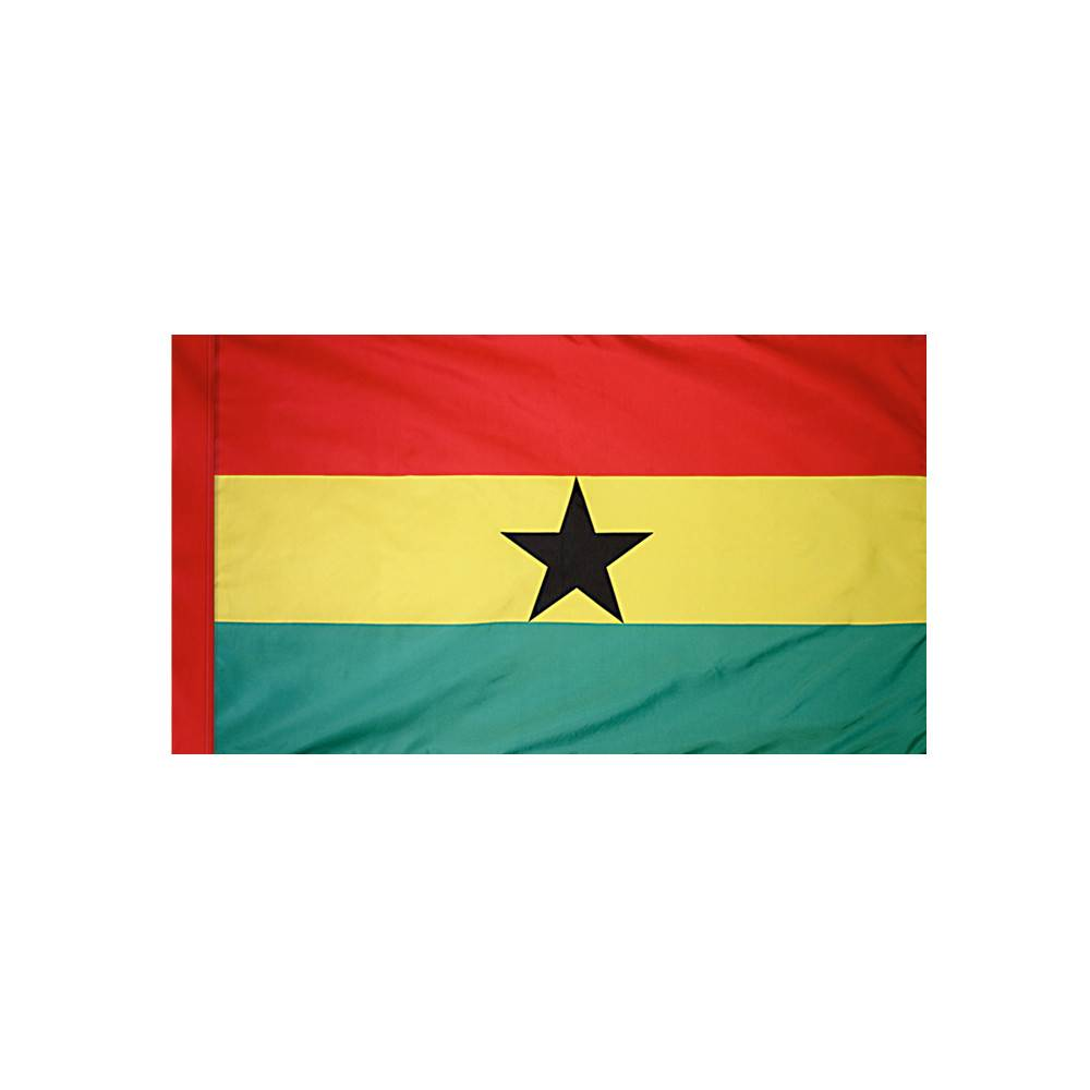 Ghana Flag  with Polesleeve