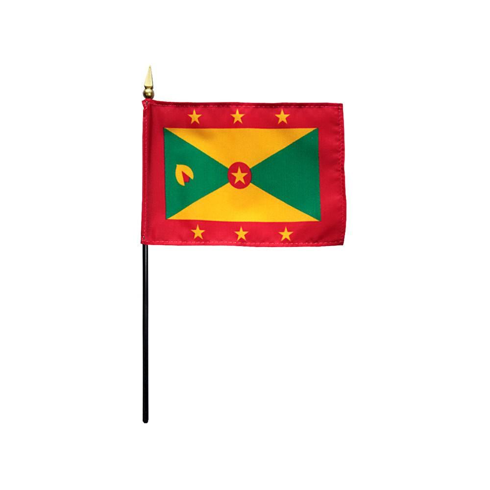 Grenada Stick Flag 4x6 in