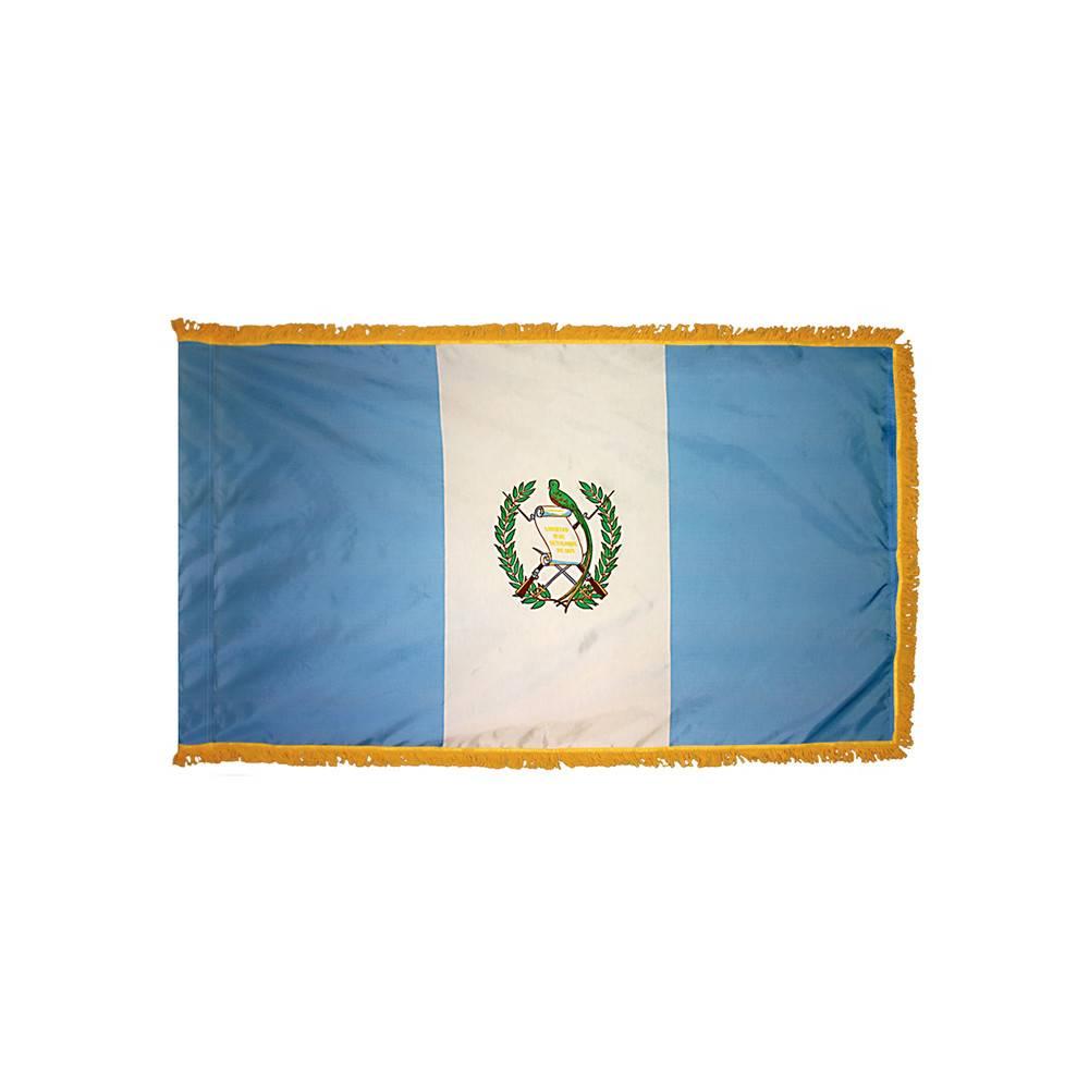 Guatemala Flag with Polesleeve & Fringe