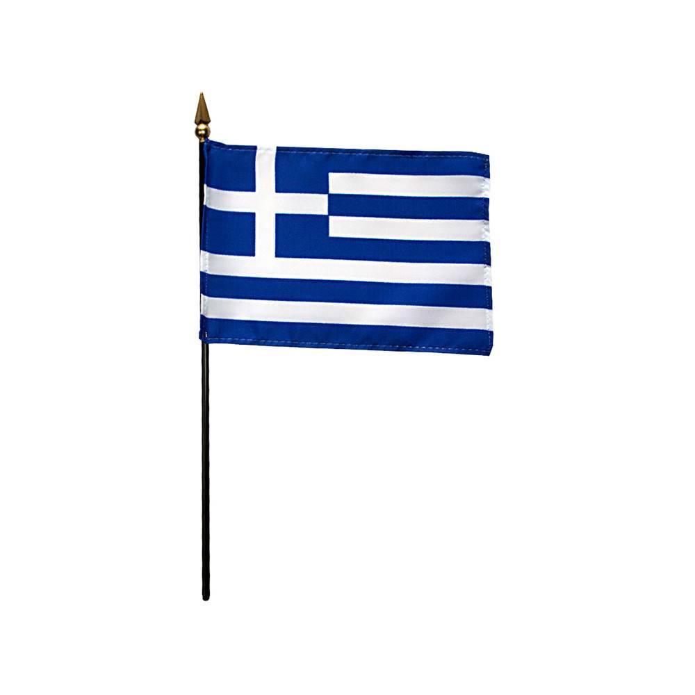 Greece Stick Flag