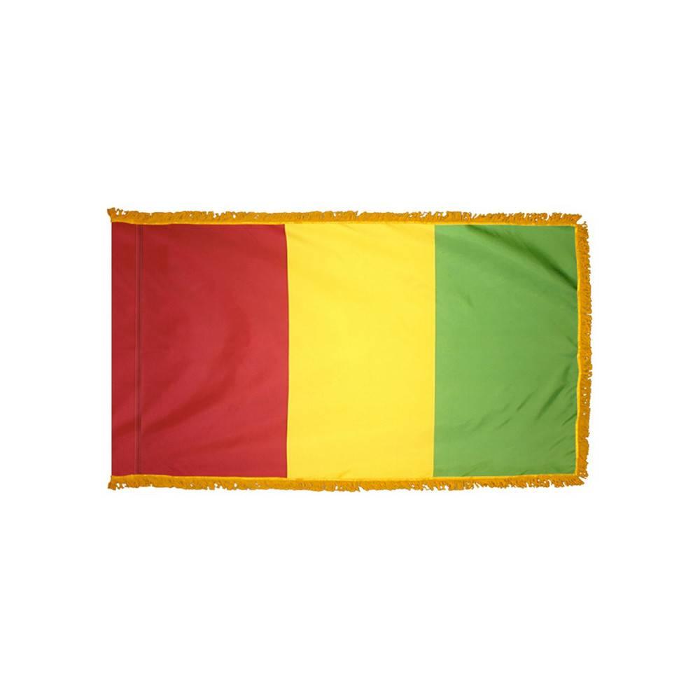 Guinea Flag with Polesleeve & Fringe