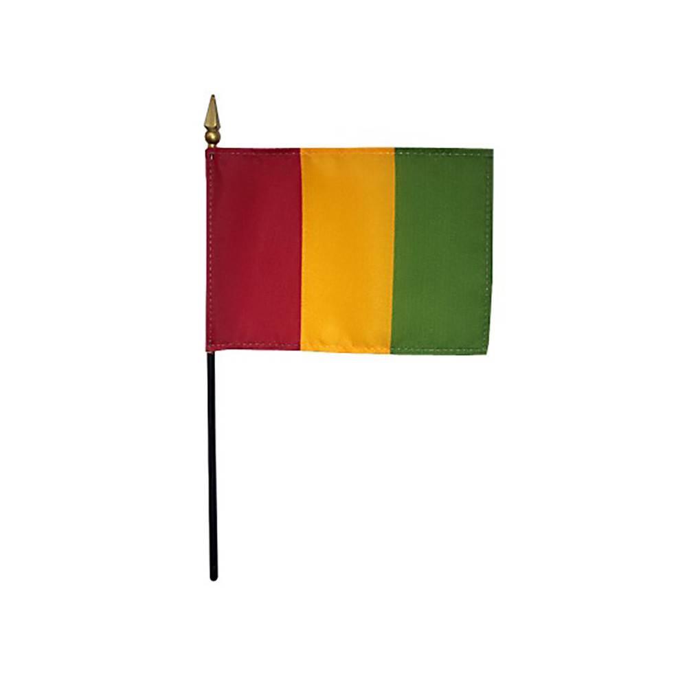 Guinea Stick Flag 4x6 in