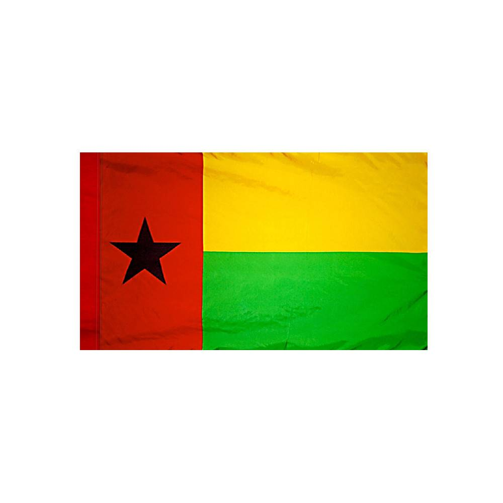 Guinea-Bissau Flag with Polesleeve