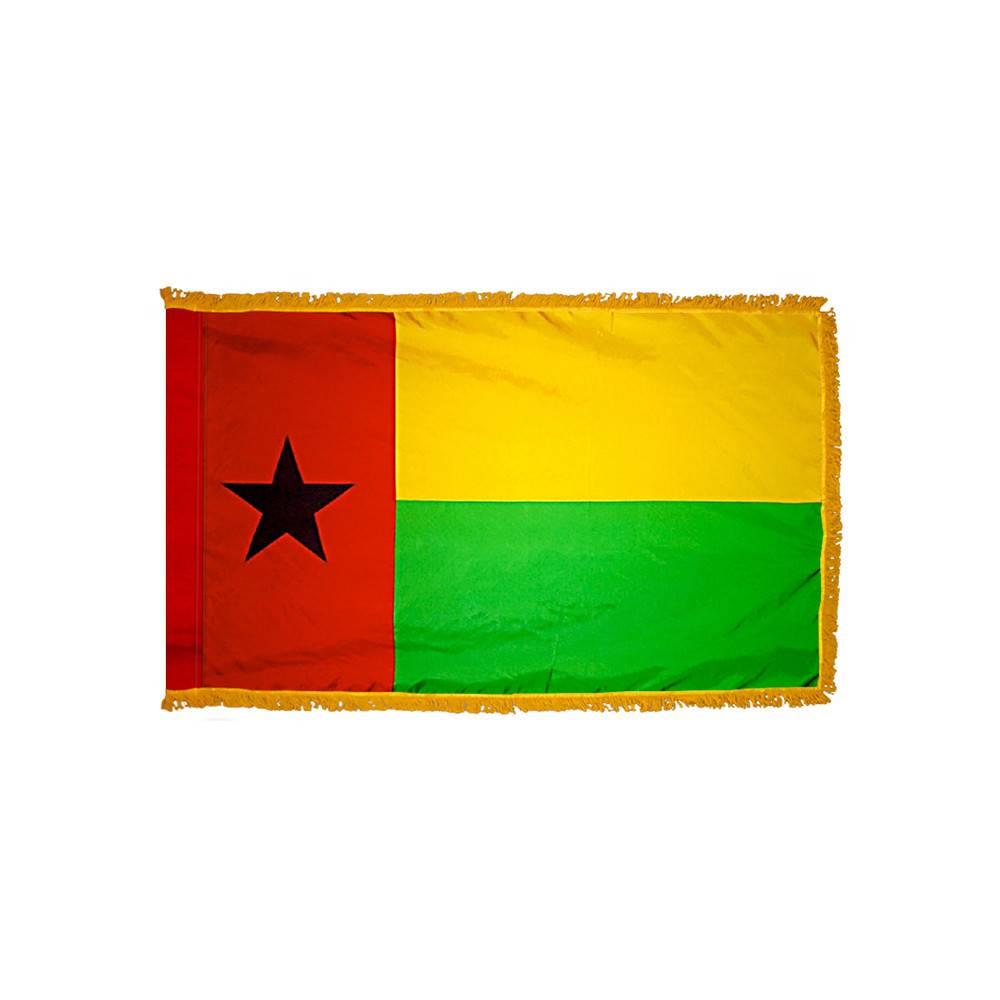 Guinea-Bissau Flag with Polesleeve & Fringe