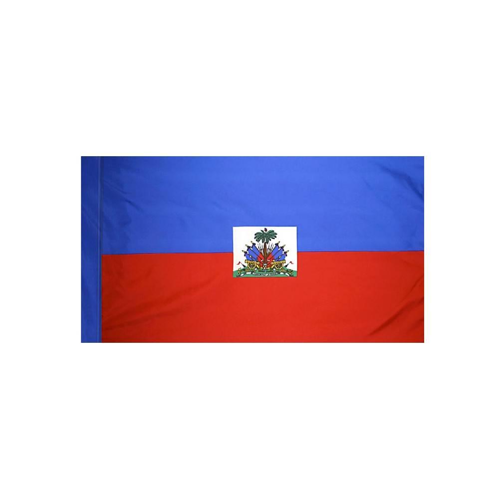 Haiti Flag with Polesleeve