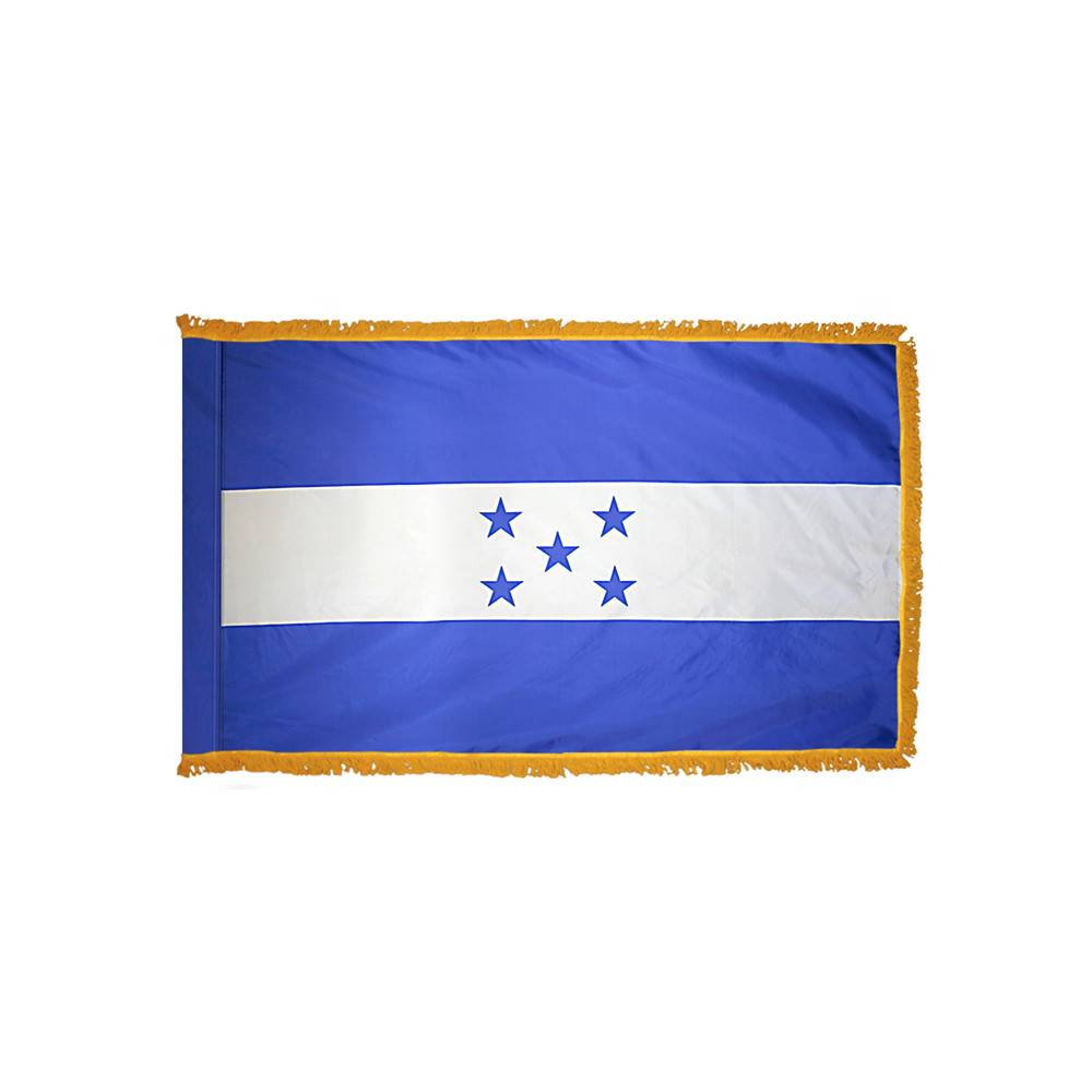 Honduras Flag with Polesleeve & Fringe