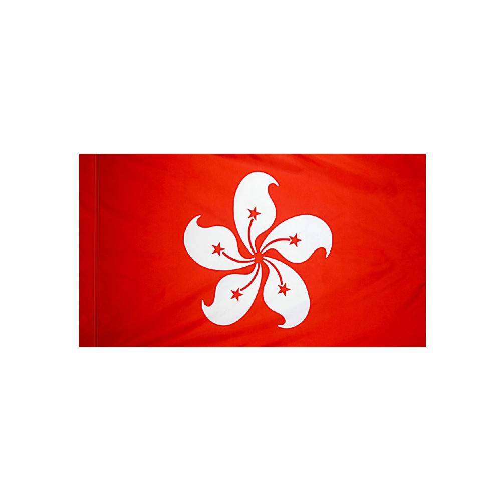 Hong Kong Flag with Polesleeve