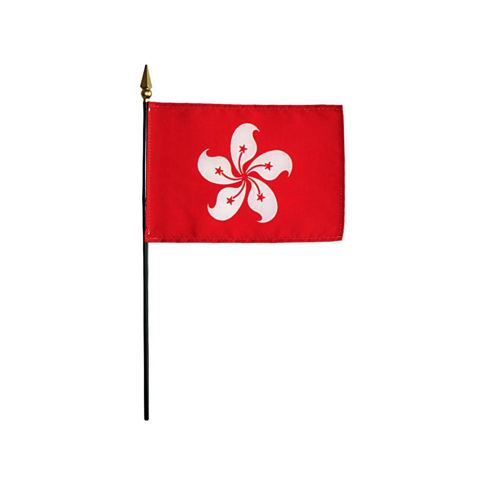 Hong Kong Stick Flag 4x6 in