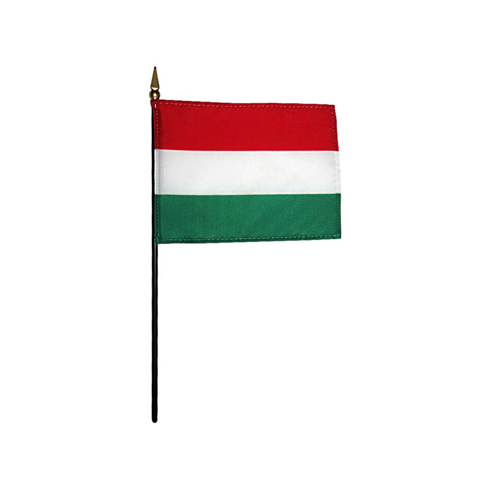 Hungary Stick Flag 4x6 in