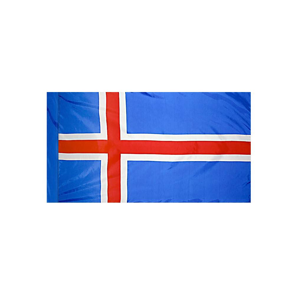 Iceland Flag with Polesleeve