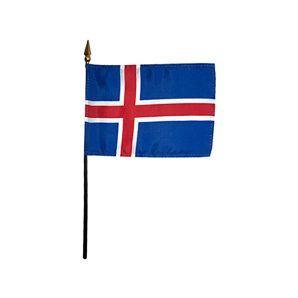 Iceland Stick Flag 4x6 in