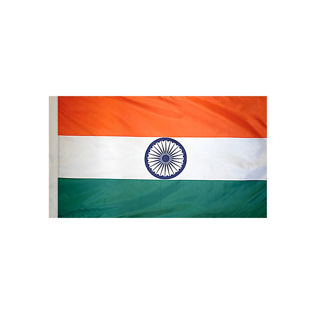 India Flag with Polesleeve