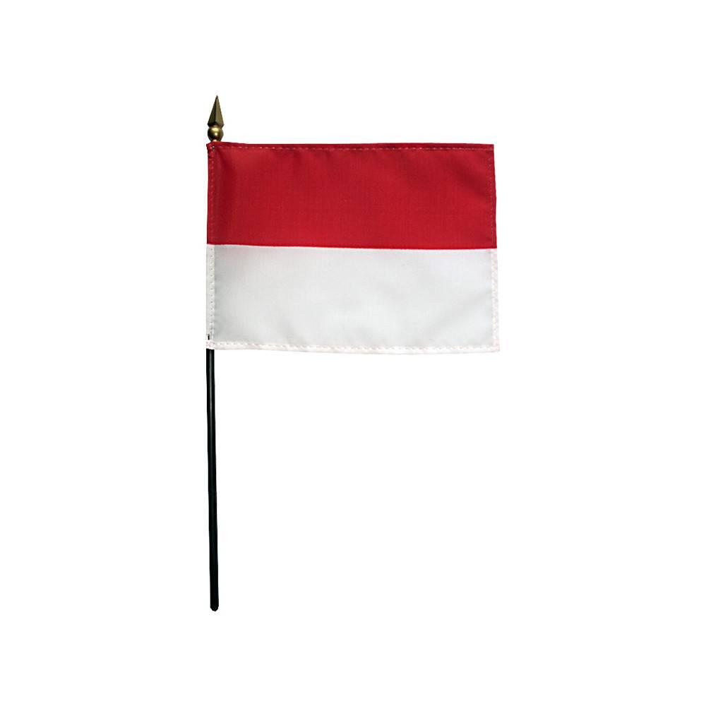 Indonesia Stick Flag 4x6 in