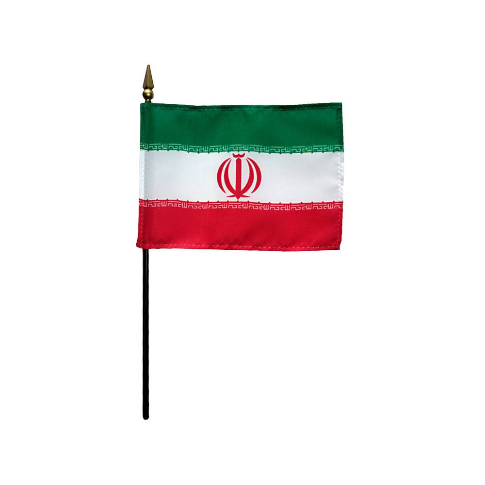 Iran Stick Flag 4x6 in