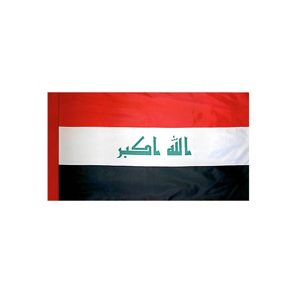 Iraq Flag with Polesleeve