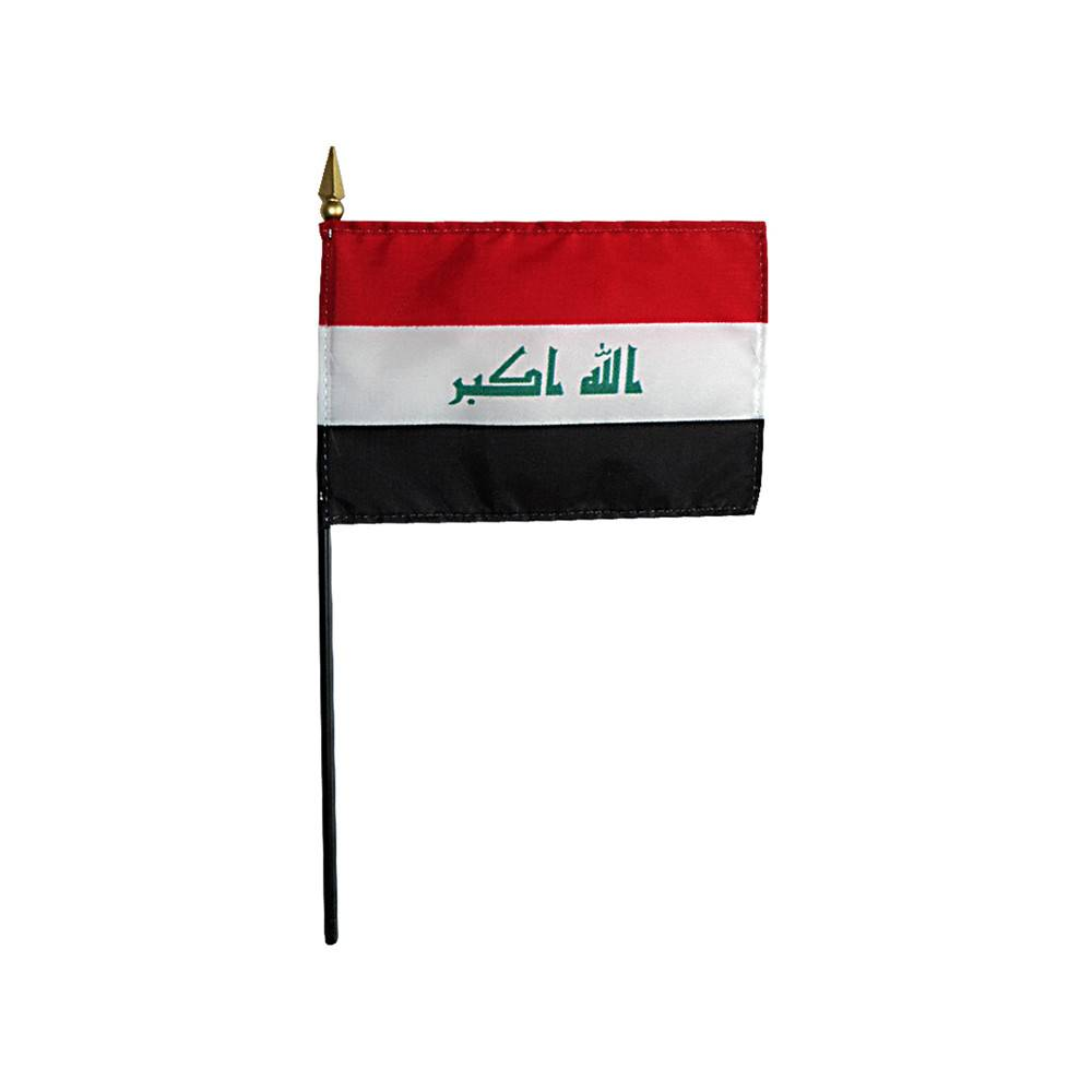 Iraq Stick Flag 4x6 in