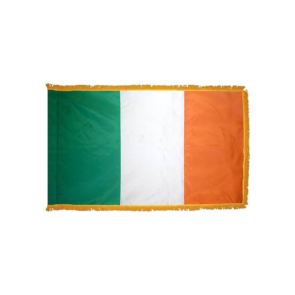 Ireland Flag with Polesleeve & Fringe