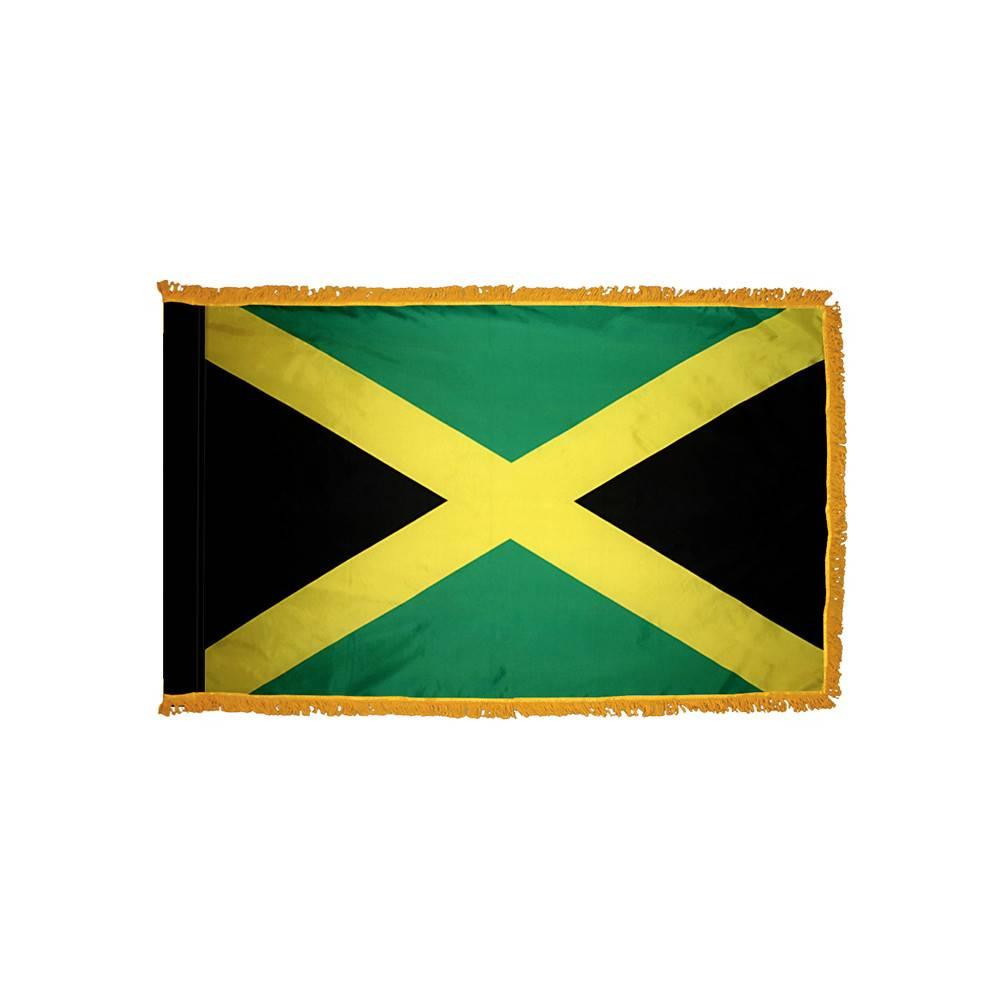Jamaica Flag with Polesleeve & Fringe