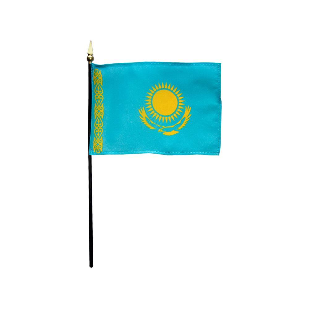 Kazakhstan Stick Flag 4x6 in