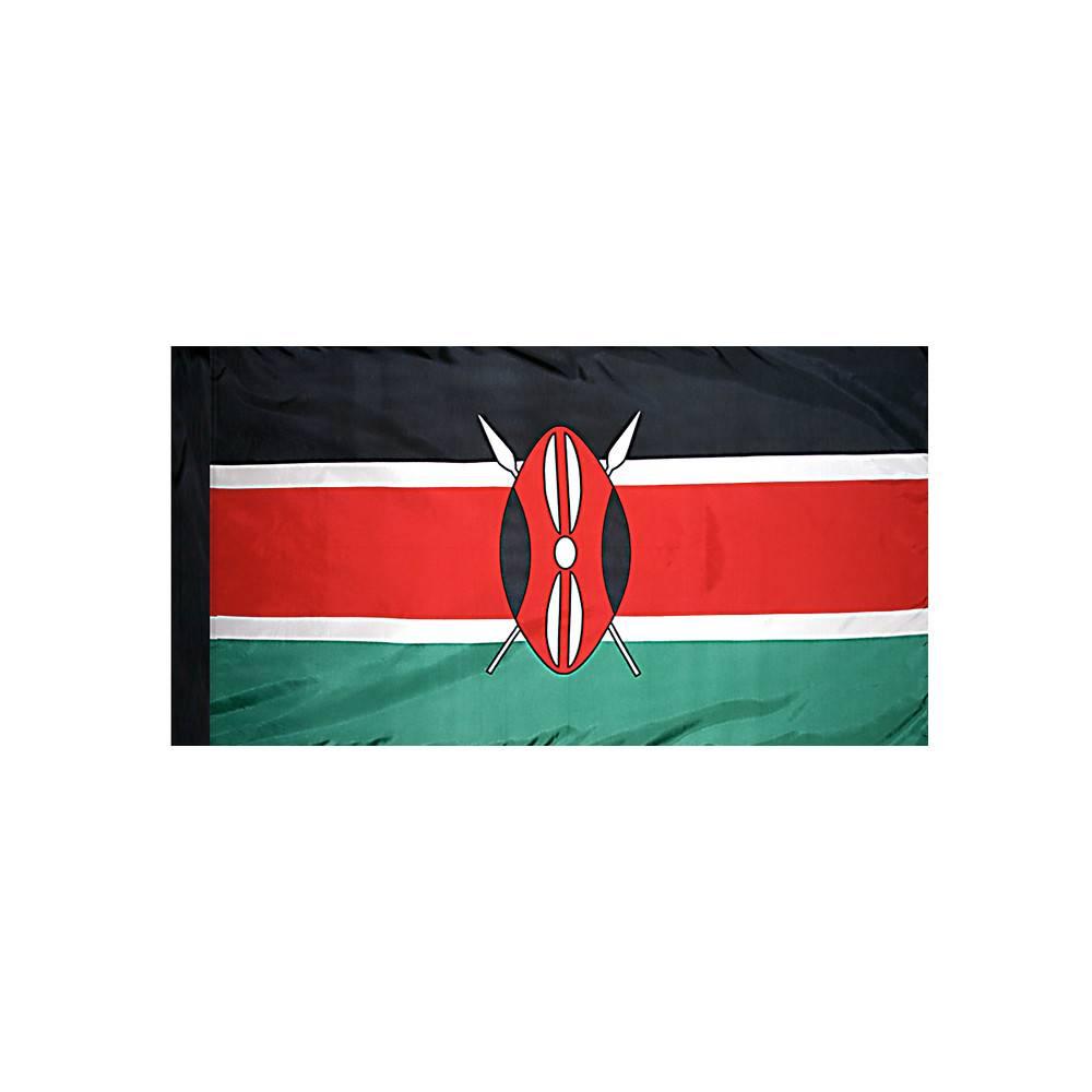 Kenya Flag with Polesleeve
