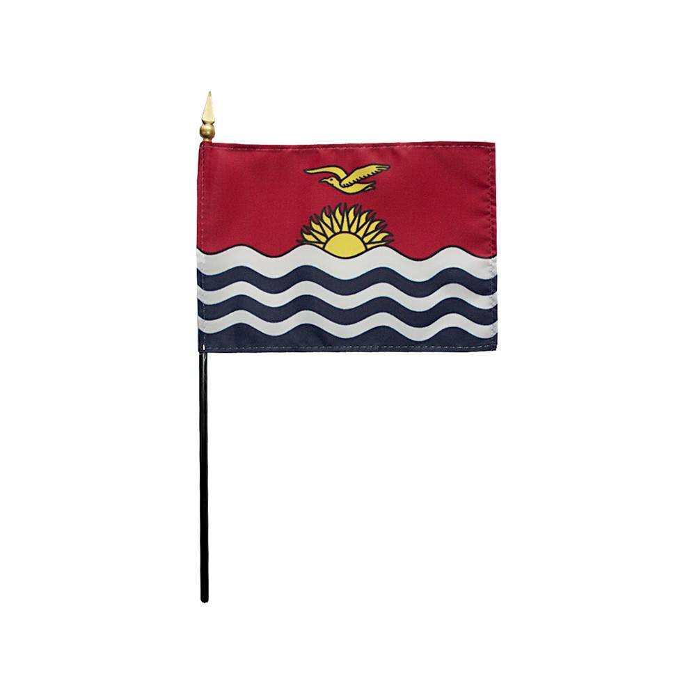 Kiribati Stick Flag 4x6 in