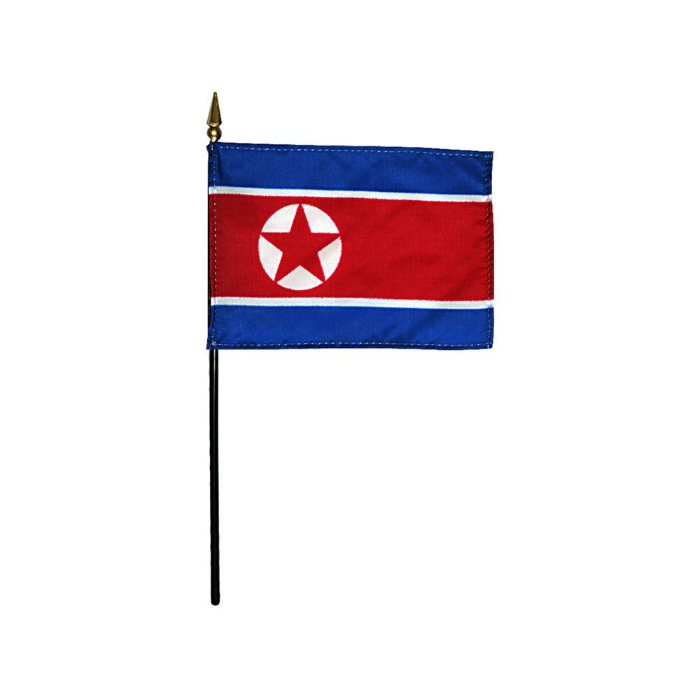 North Korea Stick Flag 4x6 in