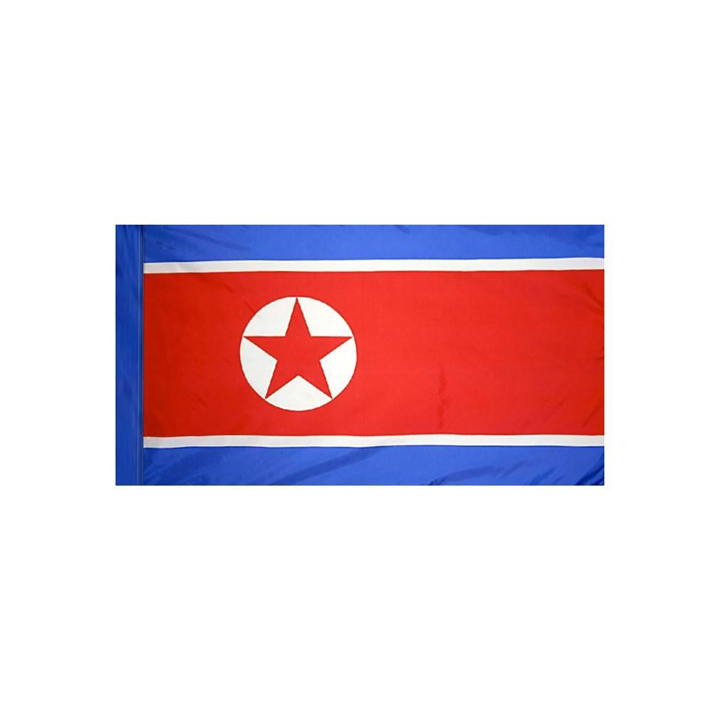 North Korea Flag with Polesleeve