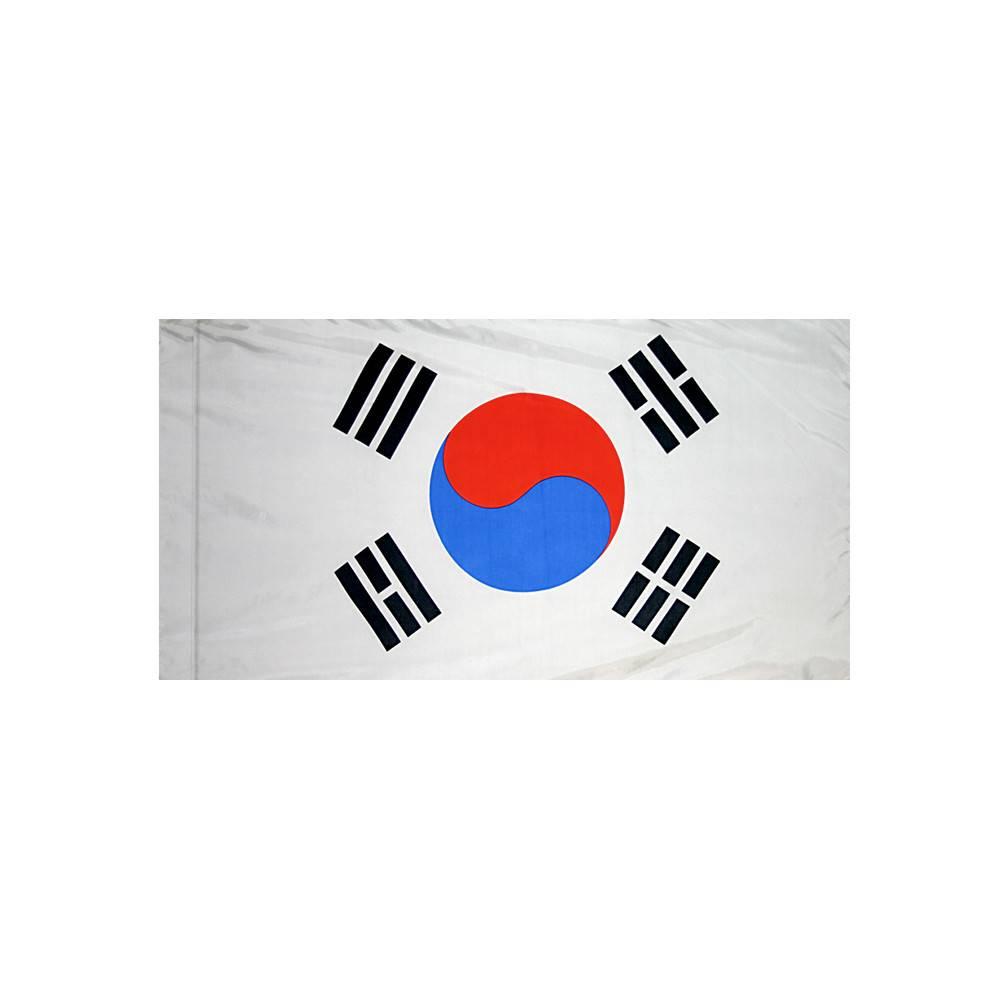 South Korea Flag with Polesleeve