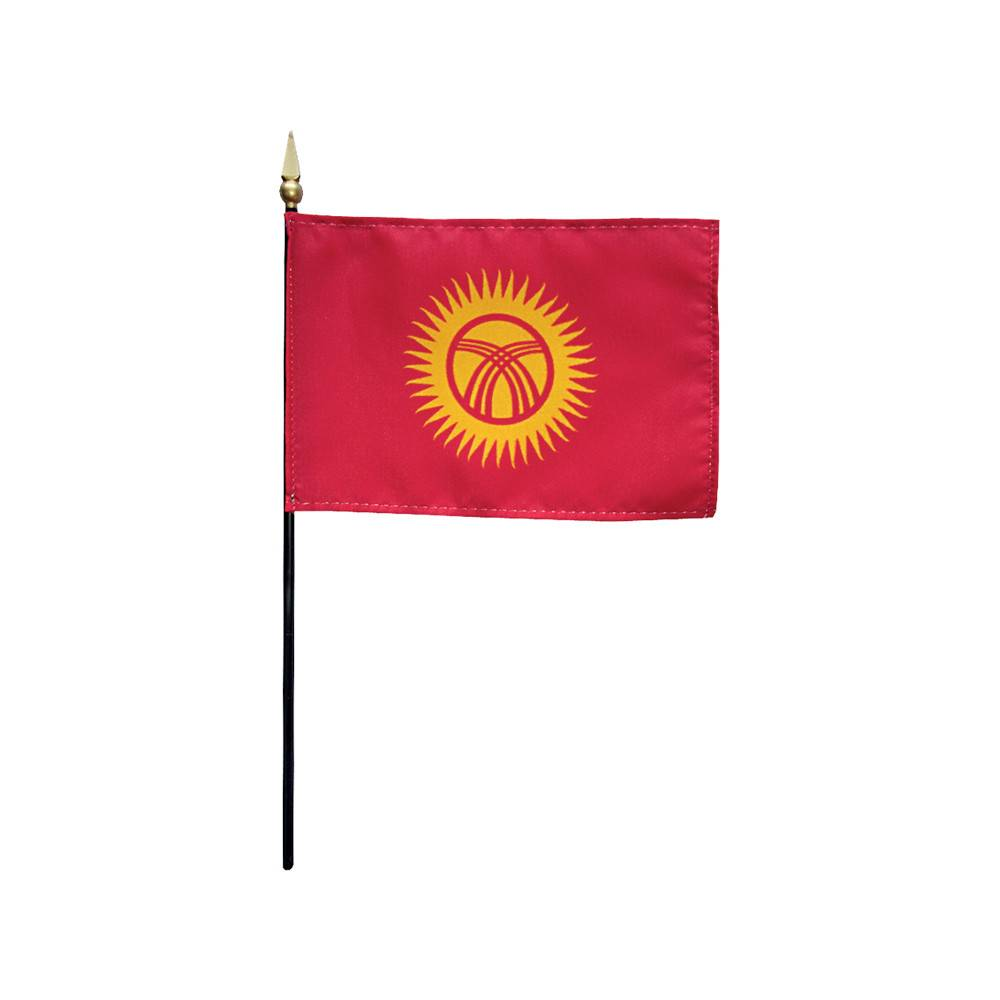 Kyrgyzstan Stick Flag 4x6 in