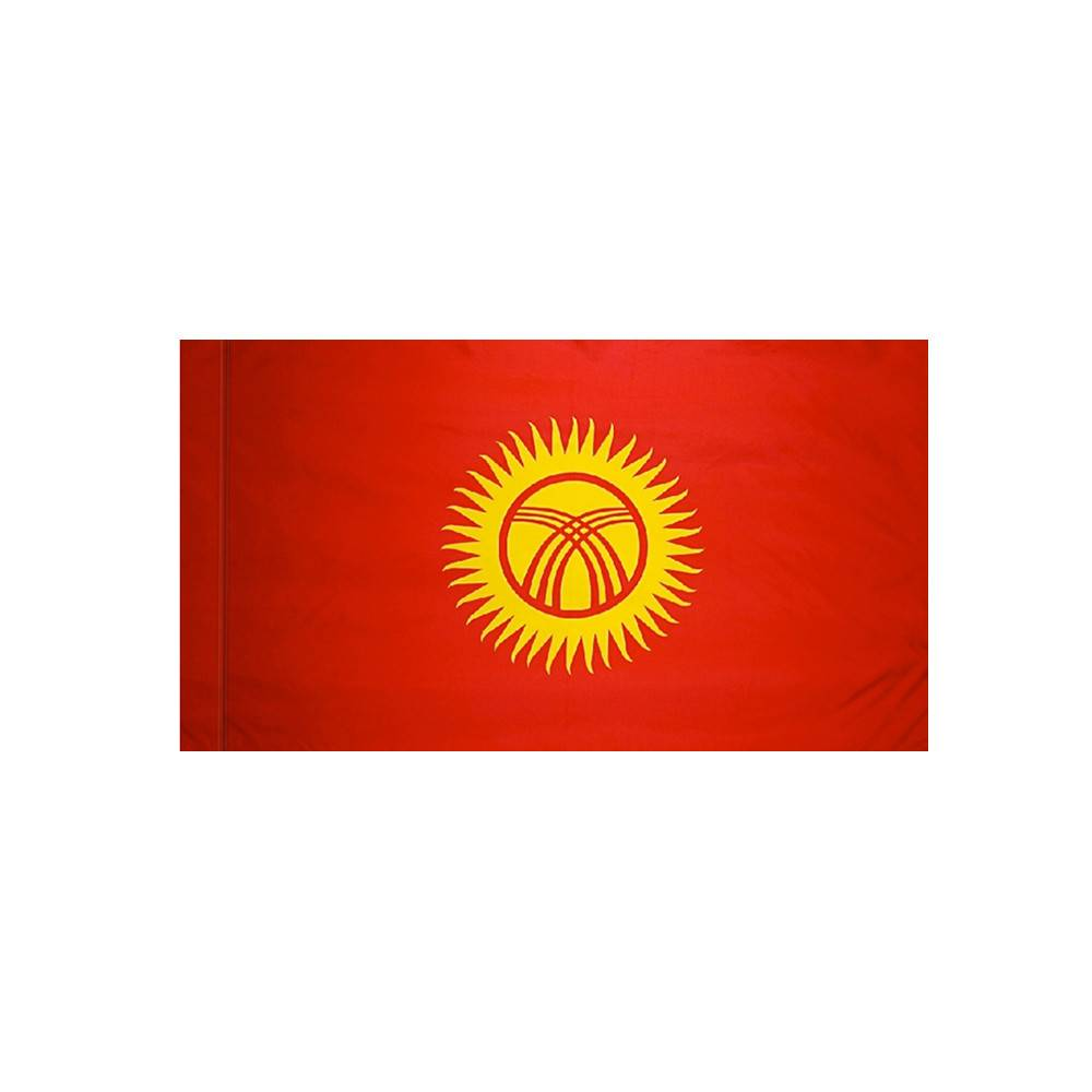 Kyrgyzstan Flag with Polesleeve