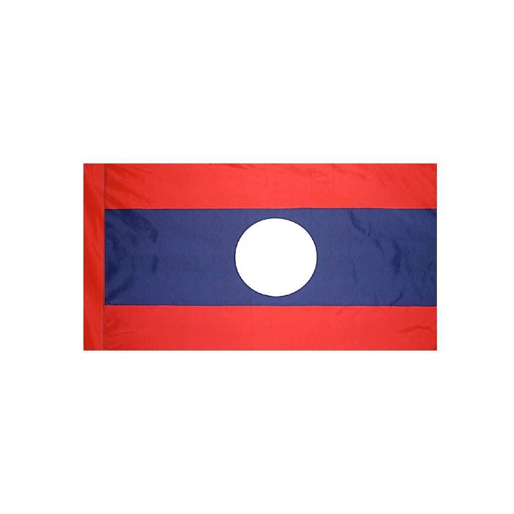 Laos Flag with Polesleeve