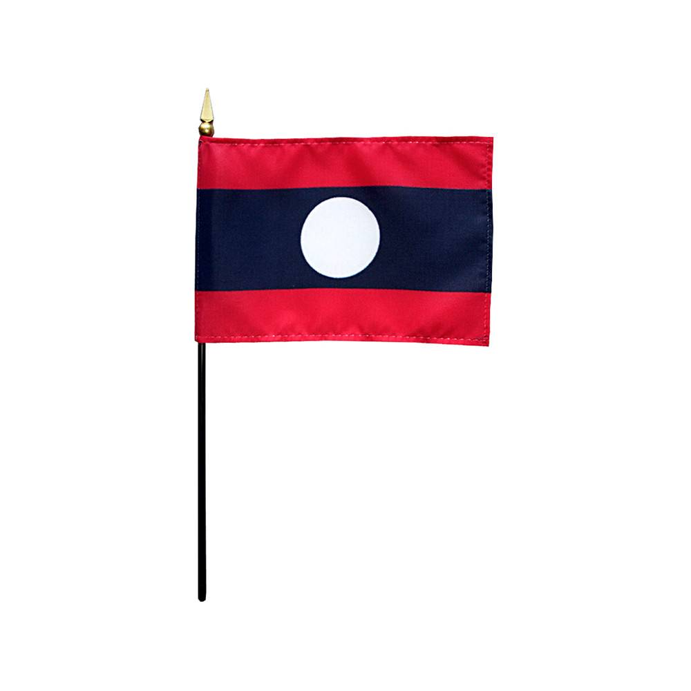 Laos Stick Flag 4x6 in