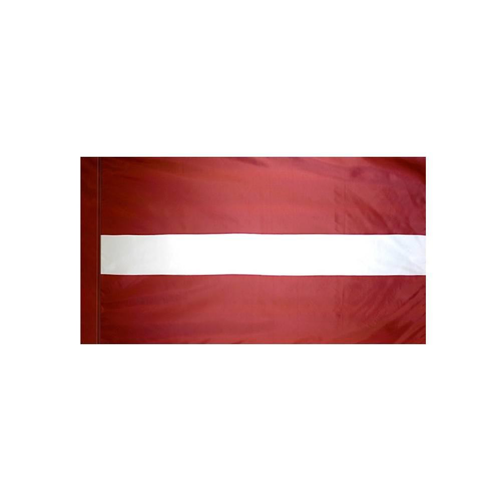 Latvia Flag with Polesleeve