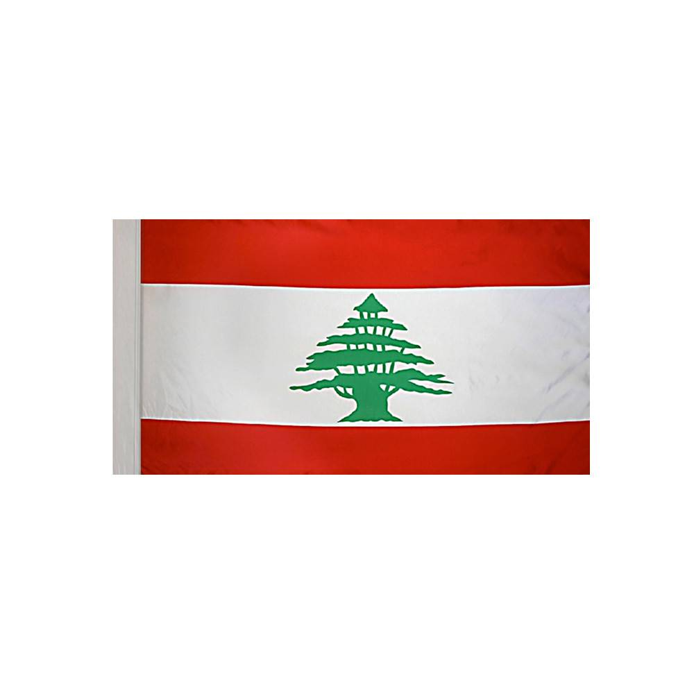 Lebanon Flag with Polesleeve