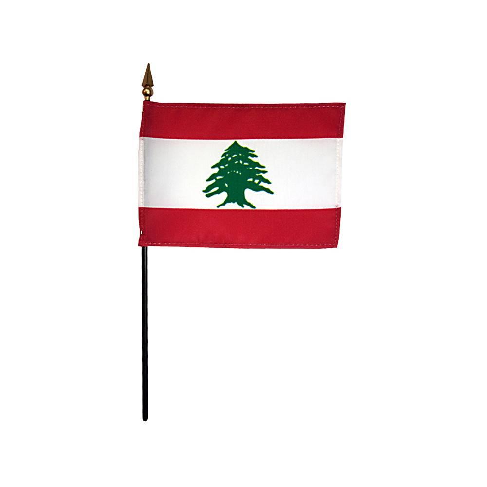 Lebanon Stick Flag 4x6 in