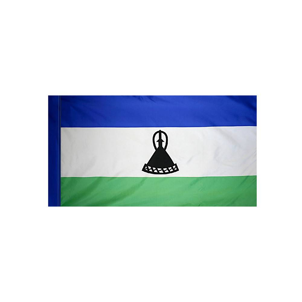 Lesotho Flag with Polesleeve